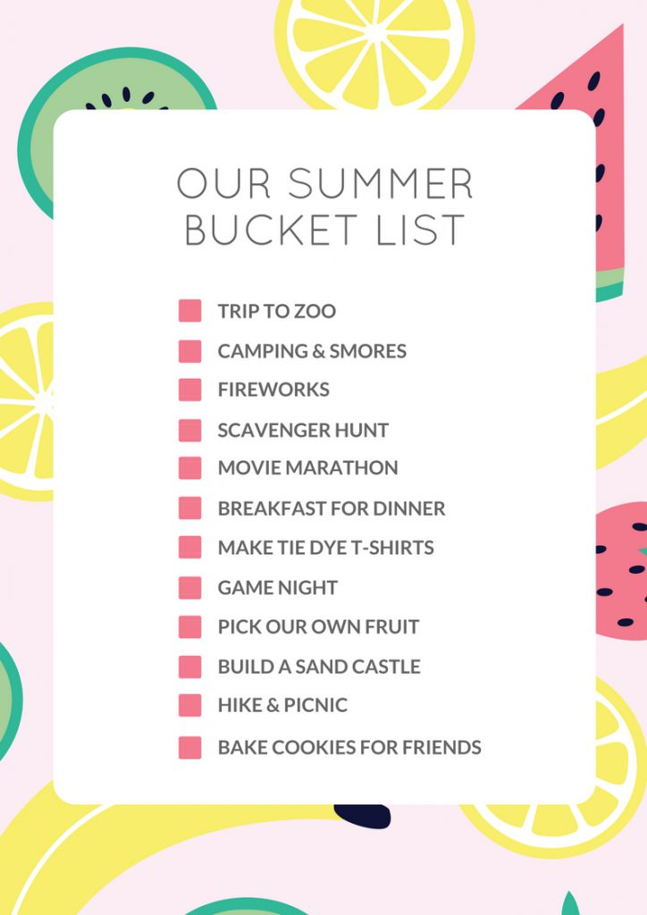 What S On Your Summer Bucket List Les Petits Cherubs